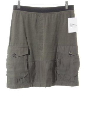 Marc Cain Jupe cargo noir-kaki style militaire