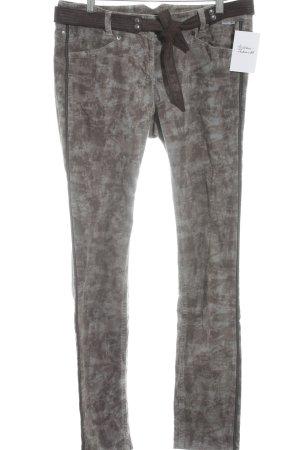 Marc Cain Pantalone di velluto a coste motivo astratto stile casual