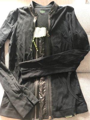 Marc Cain Sweat Jacket black-neon green