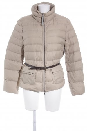 Marc Cain Down Jacket cream-dark brown quilting pattern casual look