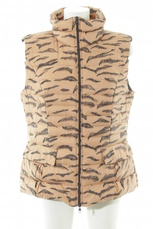 Marc Cain Down Vest nude-black abstract pattern casual look