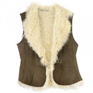 Marc Cain Fur vest bronze-colored fur