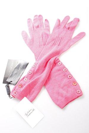 Marc Cain Fingerhandschuhe pink Zierknöpfe