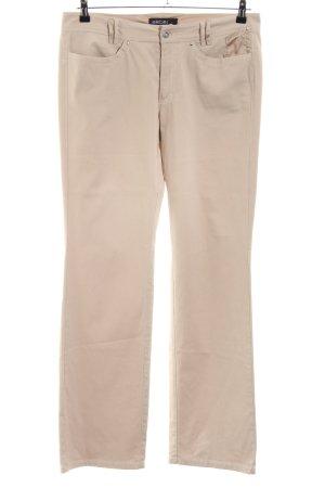 Marc Cain Pantalon cinq poches crème style décontracté