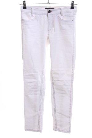 Marc Cain Pantalon cinq poches blanc style décontracté