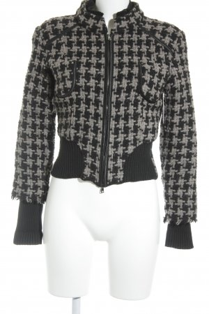 Marc Cain Coarse Knitted Jacket black-grey fluffy