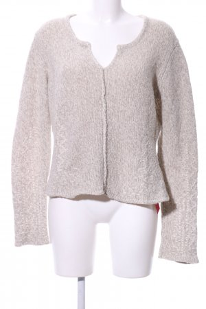 Marc Cain Coarse Knitted Sweater natural white flecked casual look