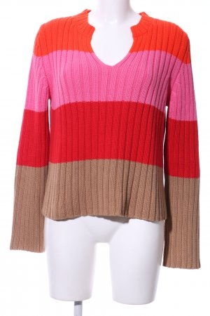 Marc Cain Coarse Knitted Sweater striped pattern casual look