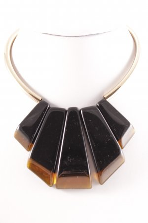 Marc Cain Halskette goldfarben-schwarz Casual-Look