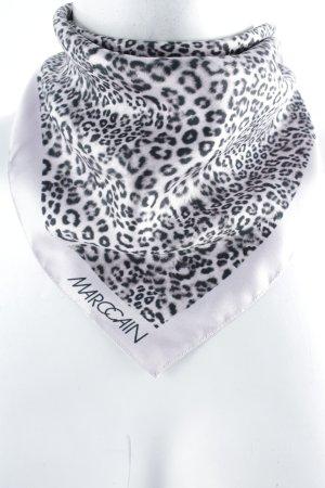 Marc Cain Halstuch hellrosa-schwarz Leomuster minimalistischer Stil