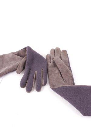 Marc Cain Handschuhe grauviolett-grau Street-Fashion-Look