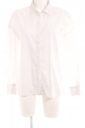 Marc Cain Hemd-Bluse weiß Webmuster Casual-Look