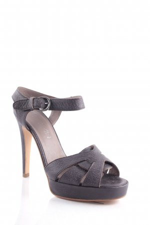 Marc Cain High Heel Sandaletten dunkelbraun Party-Look