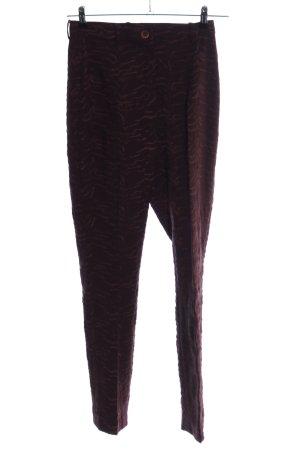 Marc Cain Pantalone a vita alta rosso stampa integrale stile casual