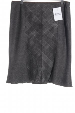Marc Cain High Waist Skirt grey brown-dark brown check pattern elegant
