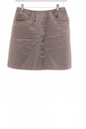 Marc Cain High Waist Rock graulila Metallic-Optik