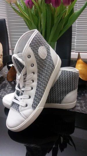 Marc Cain Hightop-Sneaker Weiss/ Grau