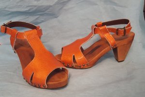 Marc Cain Holzsandalette Gr 36 orange
