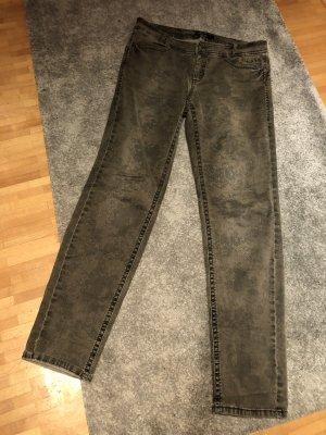Marc Cain Pantalón de cinco bolsillos gris verdoso tejido mezclado