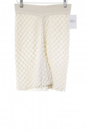 Marc Cain Culotte Skirt cream loosely knitted pattern casual look