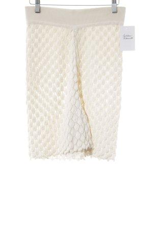 Marc Cain Jupes-culottes crème motif tricoté lâche style décontracté
