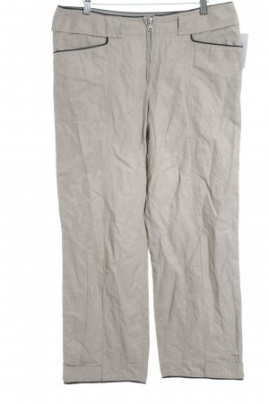 Marc Cain Low-Rise Trousers beige-black casual look