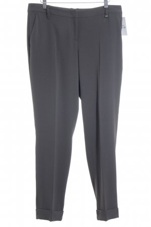 Marc Cain Low-Rise Trousers grey pinstripe business style