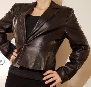 Marc Cain Leather Blazer black