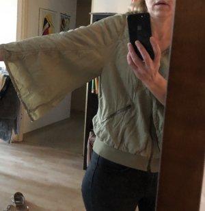 Marc Cain Blousje khaki-groen-grijs