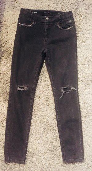 Marc Cain Jeans taille haute gris-noir