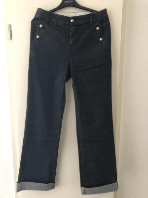 Marc Cain Jeans a zampa d'elefante blu scuro