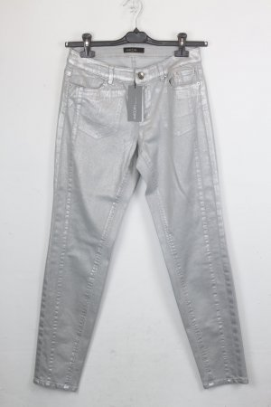 Marc Cain Jeans Skinny Mid Rise Gr. 38 silber NEU (18/5/206/R)