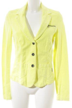 Marc Cain Blazer en jean jaune fluo style extravagant