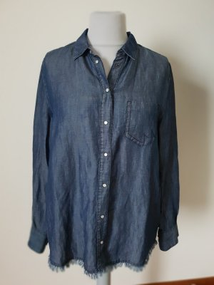 Marc Cain Blouse en jean bleu-bleu foncé