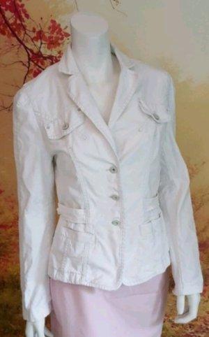 Marc Cain Veste en jean blanc