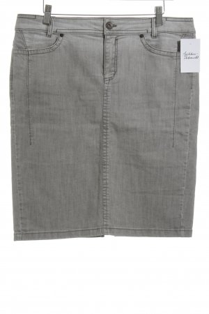 Marc Cain Jeansrock hellgrau-grau Jeans-Optik