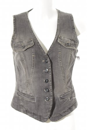 Marc Cain Denim Vest dark grey casual look