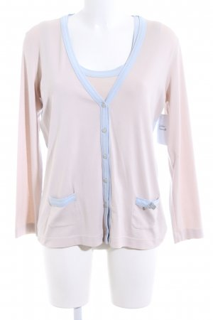 Marc Cain Twin Set tipo suéter cream-azure casual look