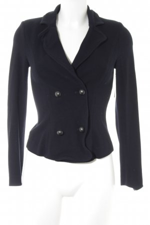 Marc Cain Jersey blazer donkerblauw casual uitstraling