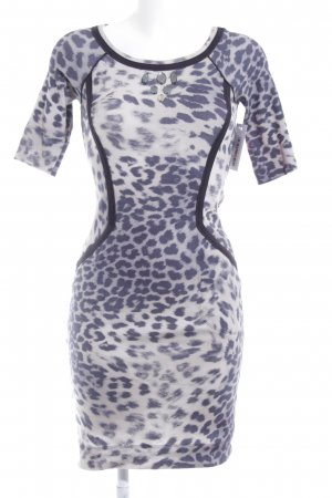Marc Cain Jersey Dress cream-blue animal pattern casual look