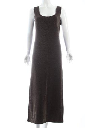 Marc Cain Jerseykleid dunkelbraun-goldfarben klassischer Stil