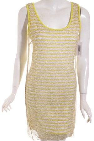Marc Cain Kleid gelb-beige Animalmuster extravaganter Stil