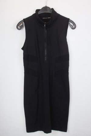 Marc Cain Kleid Gr.38 N3 schwarz mit Reisverschluss und kragen (18/5/523/R)