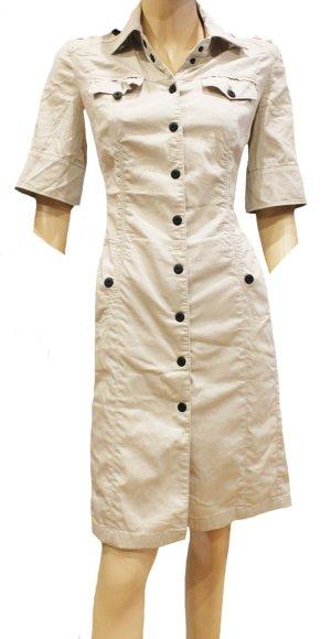 MARC CAIN Kleid Mantelkleid beige Stretch Gr. 36