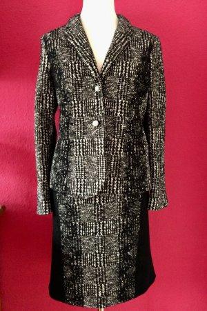 Marc Cain Ladies' Suit black-white wool