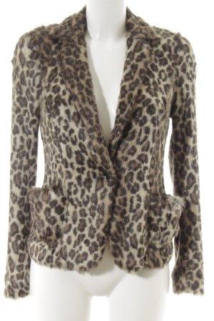 Marc Cain Fake Fur Jacket leopard pattern extravagant style