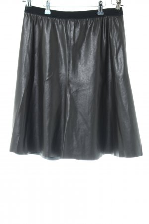 Marc Cain Faux Leather Skirt black casual look