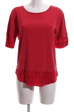 Marc Cain Kurzarm-Bluse rot Business-Look
