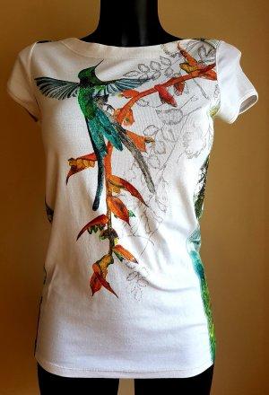 Marc Cain Kurzarm Shirt, N3,  Kolibri Reganwald Motiv,