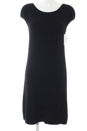 Marc Cain Kurzarmkleid schwarz Punktemuster Elegant
